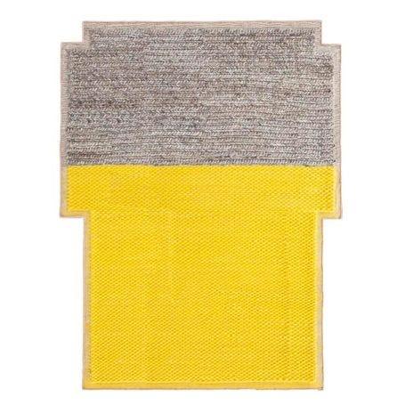 Mangas Plait Rug Yellow