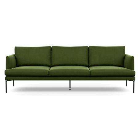 Matera 4 Seater Sofa Nobilis Velvet Leaf Black Feet