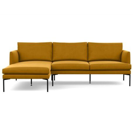Matera Corner Chaise Sofa Left Hand Facing Nobilis Velvet Mustard