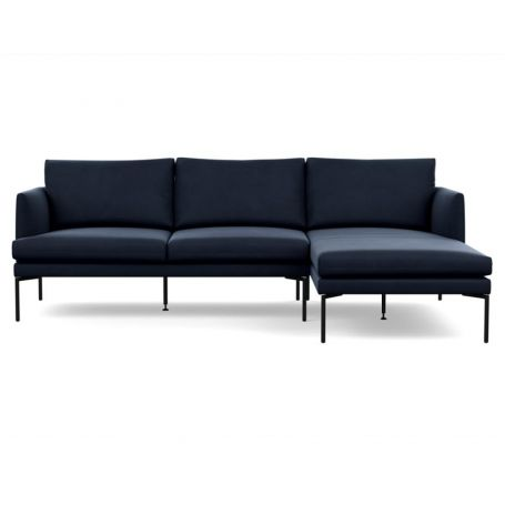 Matera Corner Chaise Sofa Right Hand Facing Nobilis Velvet Night