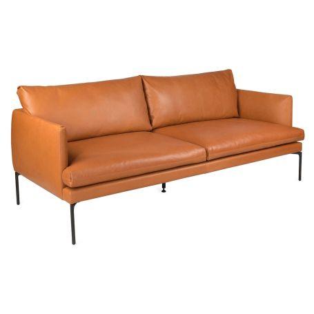 Matera 3 Seater Sofa Daino Leather Treacle