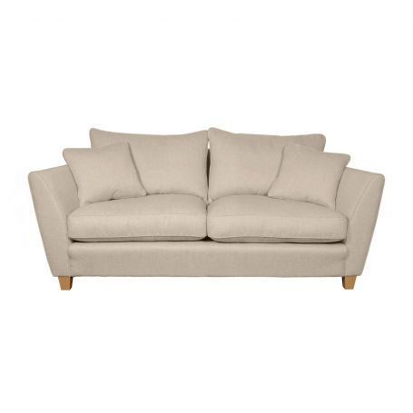 Torino 3 Seater Sofa in Cotton Grain with Natural Feet