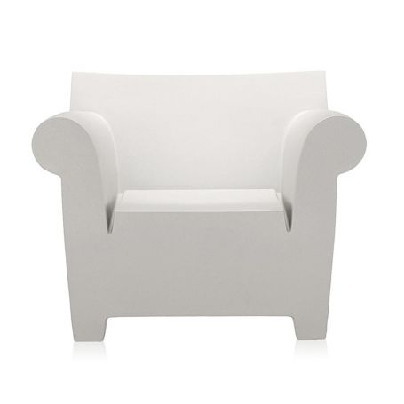 Bubble Club Chair in Zinc White - Front View