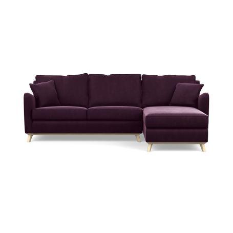 Ravello Right Hand Corner Sofa Velvet Grape