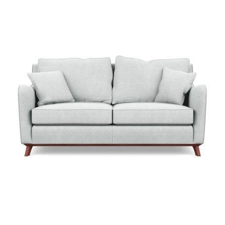 Ravello 3 Seater Sofa Broad Weave Tin Walnut
