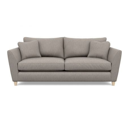 Torino 4 Seater Sofa Broad Weave Pebble Natural Ash Feet