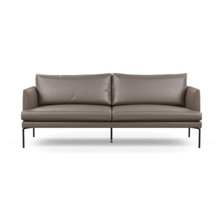 Matera 3 Seater Sofa Daino Leather Elephant