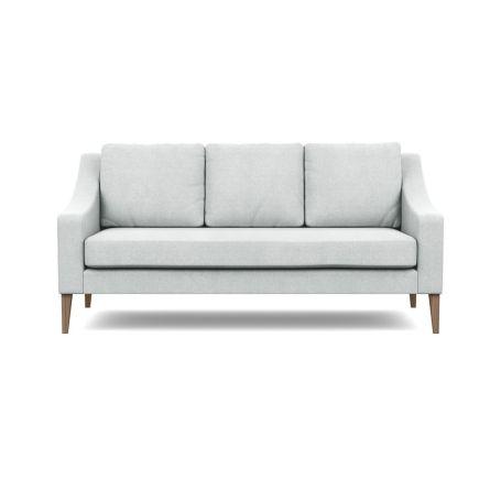 Richmond 3 Seater Sofa Broad Weave Tin Walnut Feet