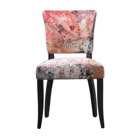 Mimi Dining Chair Faded and Degraded Velvet