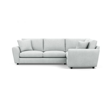 Snooze Right Hand Facing Corner Sofa Broad Weave Tin Black Feet