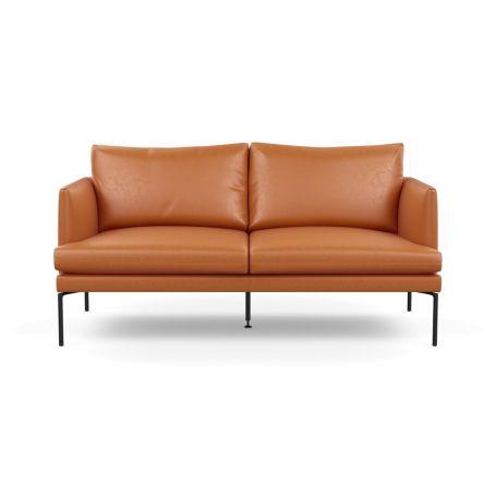 Matera 2 Seater Sofa Daino Leather Treacle Black Feet