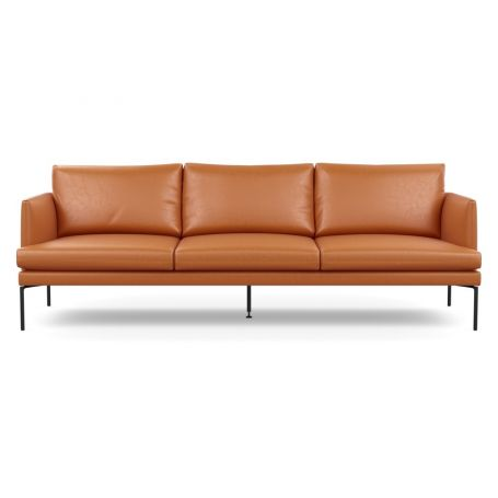 Matera 4 Seater Sofa Daino Leather Treacle Black Feet