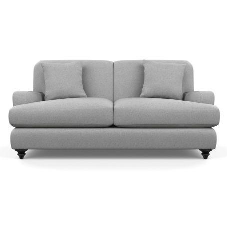 Hampstead 3 Seater Sofa Cotton Pewter Black Feet