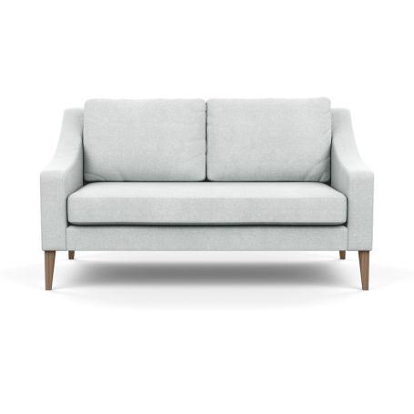 Richmond 2 Seater Sofa Broad Weave Tin Walnut Feet