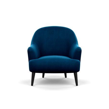 Elgin Chair Smart Velvet Blue Black Feet