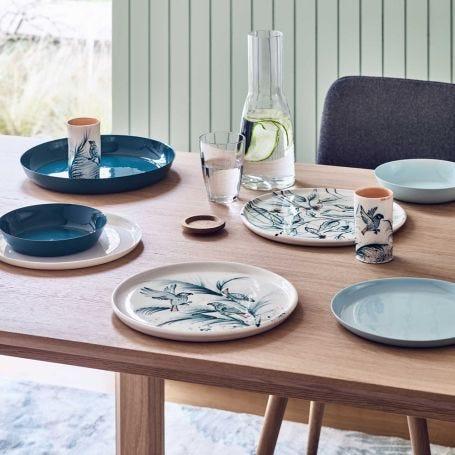 Porcelain Cool Blue Dinnerware