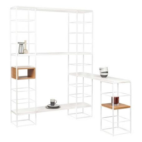 Tower Shelving System White