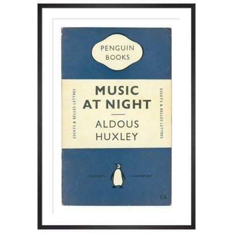 Music at Night Book Cover Penguin Books Framed Print