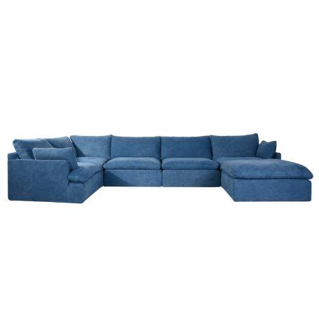 Noble Souls Nest Corner Sofa Group Old Loom Ocean