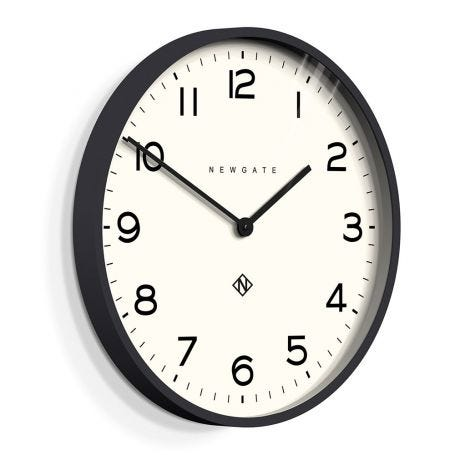 Echo Number One Wall Clock Black