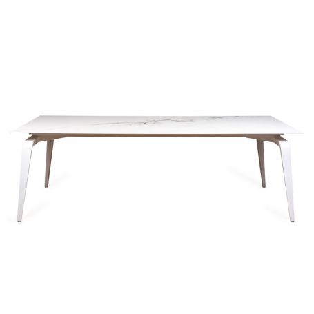 Odessa Dining Table Marble Effect Ceramic Top