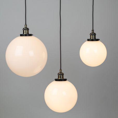 Olson Glass Globe Pendant White