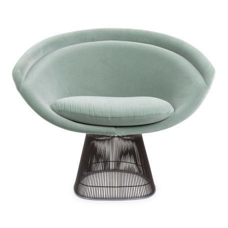 The Platner Collection Lounge Chair Eva Velvet