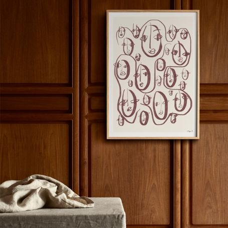 Random Faces Print by Robin Ahlgren 30 x 40cm