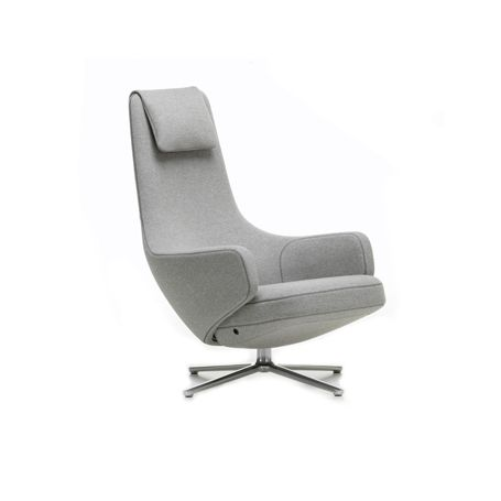 Repos Armchair Cosy Fossil Polished Base Glides for Carpets