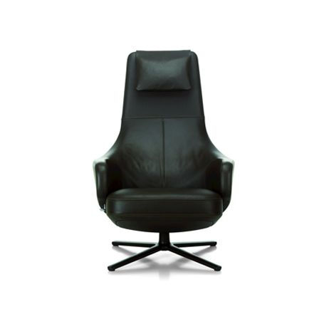 Repos Armchair Premium Leather Jade Powder Coated Base Glides for Hard Floor