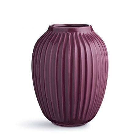 Hammershoi Ridged Vase Plum