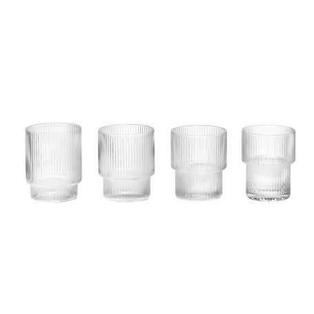 Ripple Clear Tumbler Glass Set of 4