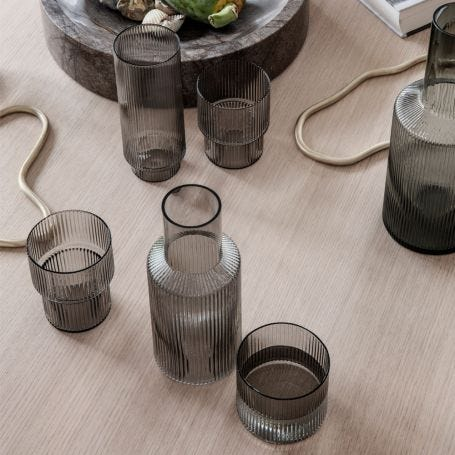 Ripple Glassware Smoke Grey