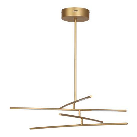 Saber LED Multi Arm Chandelier Gold