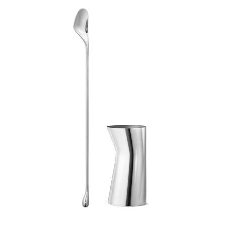 Sky Stirring Spoon & Jigger Cocktail Set