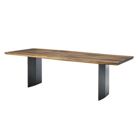 Sky Natura Plank 100 Dining Table Walnut & Antique Bronze