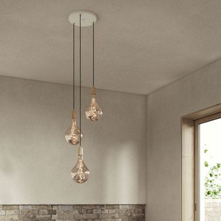 Small White Canopy With 3 Pendants