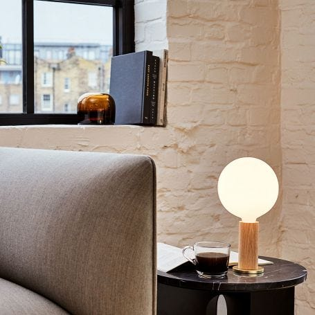 Knuckle Table Lamp Oak