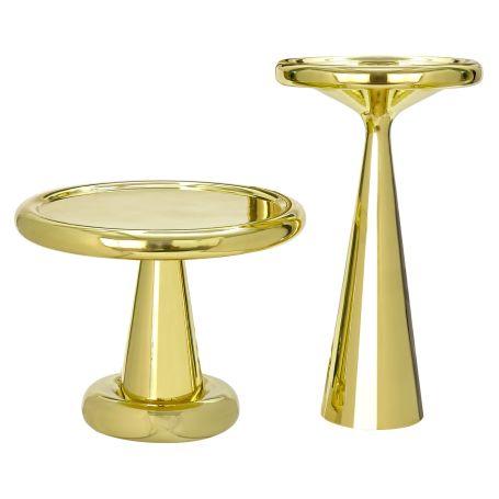 Spun Tall Table Brass