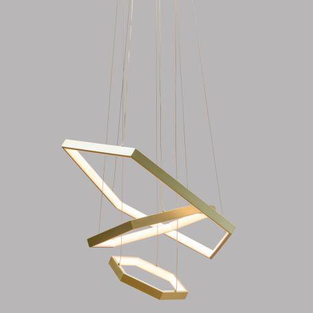 Geo LED Pendant Satin Gold