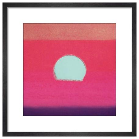 Sunset, 1972 (fuchsia) by Andy Warhol Framed Print