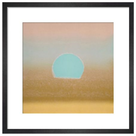 Sunset, 1972 (gold, blue) by Andy Warhol Framed Print