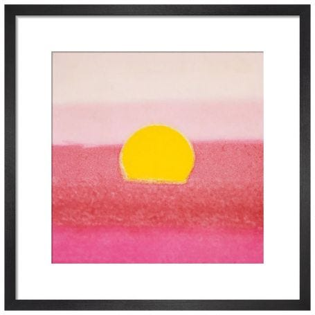 Sunset, 1972 (pink) by Andy Warhol Framed Print