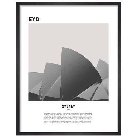 Sydney by WK Fox Art Framed Print