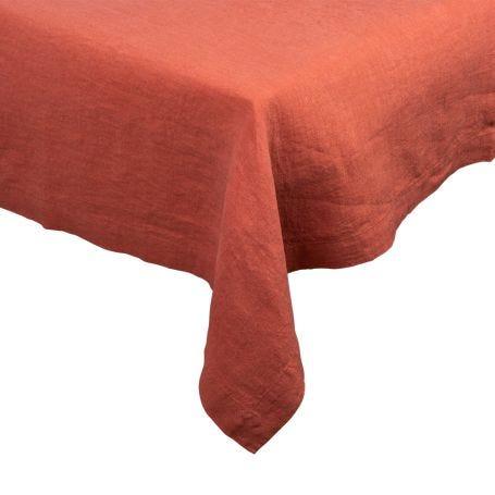Heal's Linen Tablecloth Orange Rust