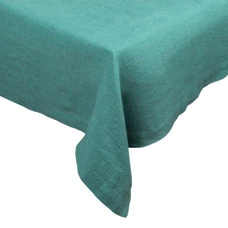 Heal's Linen Tablecloth Pool Green