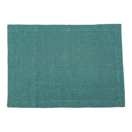 Heal's Linen Placemat Pool Green