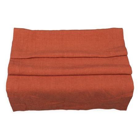 Heal's Linen Runner Orange Rust