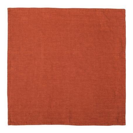 Heal's Linen Napkin Orange Rust