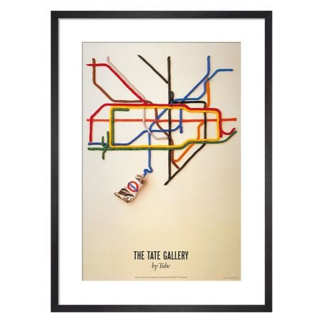 Tate Gallery by tube, 1986 by David Booth Framed Print